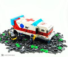 MICU 44 Responding (NS Brick Designs) Tags: spacejam spacejam2019 nsbrickdesigns lego moc creation build ambulance vehicle futuristic scifi emergency first responder