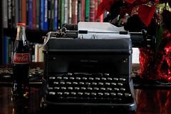 Smith-Corona (Cindy's Here) Tags: smithcorona typewriter cocacola glassbottle coke yesteryear weeklyalphabetchallenge yisforyesteryear canon