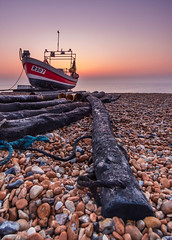 Fishing Boat on Deal Beach (borley_snaps) Tags: dealbeach sunrise deal nature dawn seascapephotography kent fujifilm morning landscapephotography beach samyang12mm england fishingboat morningglory walmer boat uk naturephotography fujifilmxt20 visitkent