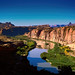 Digital Oil Pastel Drawing of the Colorado River Near Moab by Charles W. Bailey, Jr.