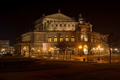 Semperoper Dresden. (Milan Madle) Tags: dresden saxony sachsen germany night nightphotography nightcity longexposure d7100 nikond7100