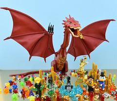 Who is the richest LEGO minifigure ? (Alex THELEGOFAN) Tags: lego legography minifigure minifigures minifig minifigurine minifigs minifigurines gold wealth money bill golden rich dragon smaug picsou