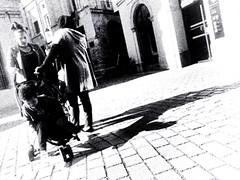 Triggered by my side (Steeven Leïcam) Tags: contrast languedoc 34000 fr free jevaisallermepromener merci bonjour started start 78 23 34 capture montpellier darkchildofthewoods poussette street sombre bw whiteb dark noir