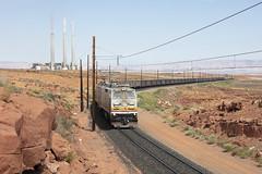 Departing (Colin Dell) Tags: bmlp page navajo generating station train railway black mesa lake powell railroad railwa coal electric e60 catenary ndem units arizona rr az