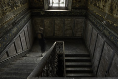 IN BETWEEN (Fragile Decay) Tags: villa stairs floors between forbidden forgotten fragiledecay lost selfportrait empty exploring dress decay