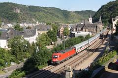 182012-5 + IC 2022 (Frankfurt M. Hbf 15:42 - Hamburg Altona 22:26), St Goar, 20/07/2010 (Christian Vanheck) Tags: stgoar br182 1820125 918061820125ddb dbag dbfernverkehr siemens taurus es64u2