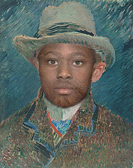 My friend G. likes Vincent (peter_hessels) Tags: photoshop pixelsoncanvas art impressionism van gogh rijksmuseum schonekunsten beauxarts vangogh