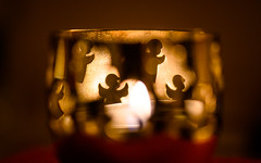 Angels in the dark room