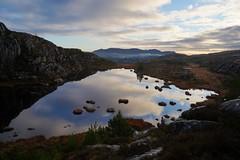 Sotra (Skurtveit) Tags: norway norge hiking tur hordaland noreg sotra knappskogfjellet reflection refleksjon spegling lake clouds skyer vatn tjørn