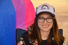Equal AF (radargeek) Tags: portrait usao universityofscienceandartsofoklahoma oklahoma ok 2019 april hat blue purple pink flag rainbow pride bisexualflag