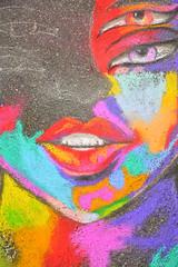 A face takes shape (radargeek) Tags: usao universityofscienceandartsofoklahoma oklahoma ok 2019 april chalk art montmartrechalkartfestival mural lips eyes