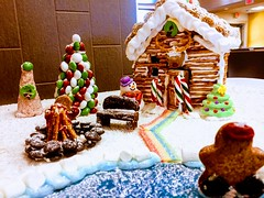 Village of Gingerbread (Mr. Happy Face - Peace :)) Tags: gingerbread art2019 shc hospital staff competition bench happybenchmonday gingerbreadbench