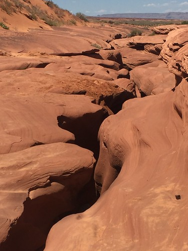 Page - Lower Antelope Canyon vue du haut