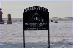 Greenville Cemetery SK 20191228_153515 DSCN7922 (CanadaGood) Tags: canada saskatchewan sk wolseley snow 2019 canadagood colour color decade2010 methodist cemetery sign church fence barbedwire christian