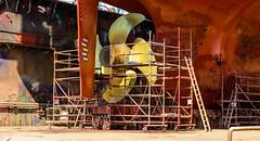 Big! (George Plakides) Tags: ship propeller hamburg germany drydocks scaffolding towers access