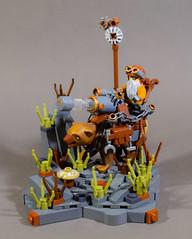 Dwarf Faction War Machine: War Bear Carronade (WarScape) Tags: lego custom minfigure castle fantasy medieval bear war dwarf unit rare faction tabletop miniature canon carronade charge ball machine
