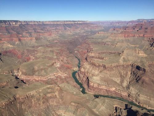 Grand Canyon South RIm - Vue depuis l'hélicoptère