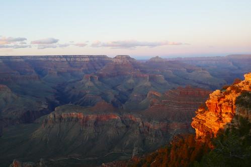 -Grand Canyon South RIm - Coucher du soleil à Yaki Point
