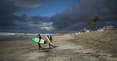 2 surfers (iatassi) Tags: surfer rainbow beachlife delmarcalifornia clouds iatassi iatassiphoto iatassiphotography pacificocean westcoast canon5dmarkiv copyright