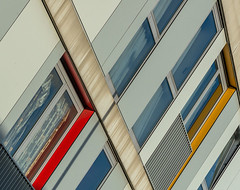 Wall colours (jefvandenhoute) Tags: belgium belgië antwerpen light geometric wall windows
