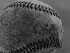 Macro Monday - Redux 2019 - June 10 (xJosh xHammond) Tags: macro macromonday baseball ball sports weathered toy blackandwhite black white monochromatic bw