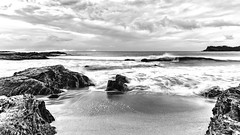 Sunrise Seascape (Merrillie) Tags: batemansbay eurobodallashire maluabay australia beach clouds coast coastal dawn daybreak island landscape mountains nature newsouthwales nsw ocean rocks scenery sea seascape southcoast sun sunrise water waterscape