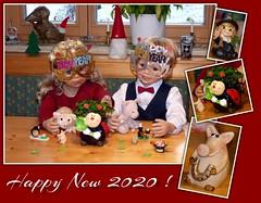 Luis und Bärbel... / Luis and Bärbel... (ursula.valtiner) Tags: puppe doll luis bärbel künstlerpuppe masterpiecedoll silvester newyearseve 2020 newyear neujahr glücksbringer luckycharms