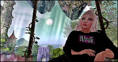 At the Forest of Mystical Dreams02 (Karmandi Caeran SL Owner Of Karmatose Designs) Tags: spunky tastic dreams believe smile blonde beautiful swing forestofmysticaldreams trees lights castle spanky ty jennifer beverly