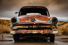 Rusted Old Ford (ISP Bruno Laplante) Tags: old ford rusted rust vintage decay decaying route 66 arizona caverne inn sky clouds