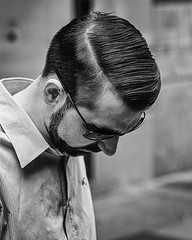 Perfect hair part! (Chris (a.k.a. MoiVous)) Tags: streetphotography adelaidecbd streetlife commuters