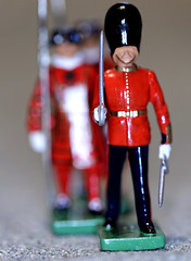 Macro Mondays #1 - In a row  IMG_1186 (alisonhalliday) Tags: macro closeup soldiers beefeaters guardsman red miniaturesoldiers modelfigures canoneosrp canonef100mmf28lmacroisusm britaintoysoldiers