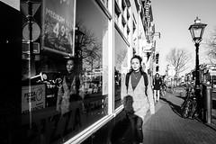 Walking (JustQ4) Tags: straatfotografie street streetpic urban lady reflection women city