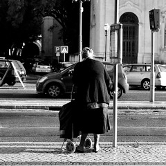 Returning from the market (pedrosimoes7) Tags: elderlypeople elederly street streetimages streetpassionaward streetshot streetlight streetlife ancianos nuestrosancianos blackandwhite blackwhite blackwhitepassionaward blackandwhiteonly estrela lisbon portugal