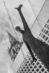 Standbeeld - Statue (naturum) Tags: 2019 ahaus architecture architectuur blackandwhite blackwhite bw church december deutschland duitsland geo:lat=5207560134 geo:lon=700686637 geotagged germany kerk sculpture sculptuur standbeeld statue winter zw zwartwit noordrijnwestfalen