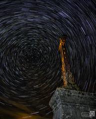 La Cruz de San Frutos (JoseQ.) Tags: circumpolar startrails estrellas star cruz nocturna noctografos night noche luces sanfrutos duraton segovia hoces