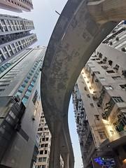 Hong Kong Flyover (Feldore) Tags: hong kong architecture flyover skyscraper road towers feldore mchugh huawei p30 pro