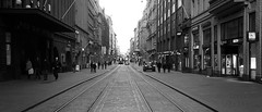Tram (Missing Pictures) Tags: travel traveling tram helsinki finland rail street streetphoto streetphotography city town photography photoblackandwhite photoshot people photooftheday peopleonthestreet monochrome bw black blackandwhite white europe explore exploring explored