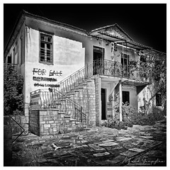 For Sale? (Alfred Grupstra) Tags: blackandwhite old oldfashioned obsolete history antique retrostyled victorianstyle print isolatedonwhite builtstructure buildingexterior architecture monochrome classicalstyle house paintedimage cultures outdoors illustration sale urbex