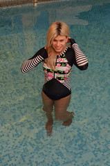 In the pool ready for swim or a mess about. Photo by Sven Svenson (Miss Nina Jay) Tags: swimsuit tights
