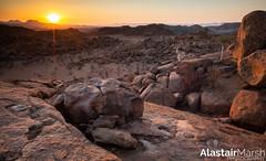 Sunset Over Damaraland (Alastair Marsh Photography) Tags: namibia namib damaraland travel camp mountain rock landscape photography sand rocks desert travelphotography landscapephotography namibdesert mowani mowanimountaincamp africa sunset sun sunlight dusk africanlandscape