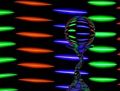 Dashes of Light (Karen_Chappell) Tags: rgb red green blue black ball round circle glass orb sphere led glow longexposure lines dashes dash shapes shape abstract refraction stilllife lightpainting colour color colours colors colourful multicoloured bright