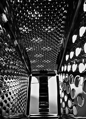 A grate view (robbbpage) Tags: view from inside cheese grater