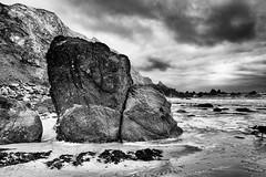 A Trio of Rock Faces (Bone Setter) Tags: westdale pembrokeshire dramatic cliffs rocks haven bay beach leica blackwhite nigelparker