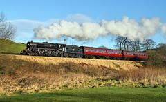 Worth Valley Black 5 From Below. (Neil Harvey 156) Tags: steam steamloco steamengine steamrailway railway 45212 oakworthmound oakworth keighleyworthvalleyrailway kwvr worthvalleyrailway mincepiespecial black5 stanier lms