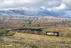 Ribblehead Panorama (chrissyMD655) Tags: sc settle carlisle colas class 60 60096 6j37 timber whernside ribblehead
