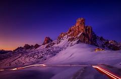 Spacca il cuore ... (Gio_guarda_le_stelle) Tags: dolomiti dolomites dolomiten sunset snow italy mountainscape giau