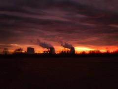 Powerstation in Sunset (lausitz360) Tags: powerstation kraftwerk lausitz lausitz360 brandenburg jänschwalde peitz sunset sonnenuntergang