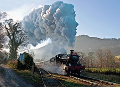 pentrefelin (midcheshireman) Tags: steam train locomotive greatwestern 78xx 7822 foxcotemanor llangollen wales