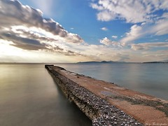 Calmness (mary.th) Tags: landscape seascape seaside water sea sky clouds sunset winter nature long exposure nd filter travel