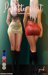 Pailette Skirt (Pink Charcoal by Sinful Sky) Tags: giveaway secondlife newrelease skirt newyears eve fashion mini sequind sparkle pailette original deal free gift freebie